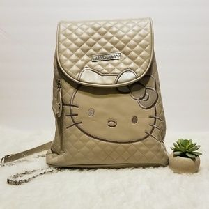 HELLO KITTY Quilted Backpack Purse Sanrio